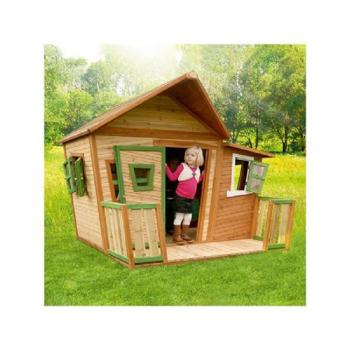 Overstrand Playhouse - Jumbo Wacky Wooden Wendy House with Porch